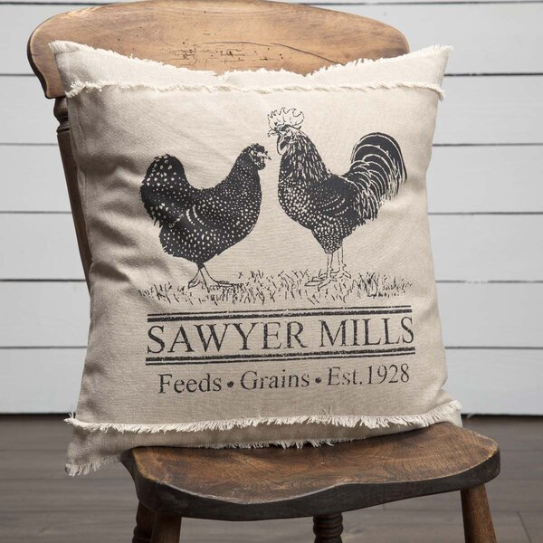 Surikova Poultry 100% Cotton Throw Pillow by August Grove